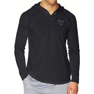 UA Men's Sirotech Hoodie, Black/Gray, XX-Large